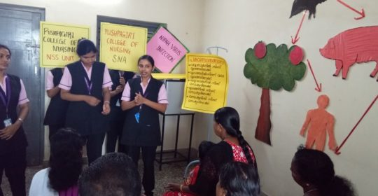 AWARENESS CLASSES ON NIPAH VIRUS AND OTHER COMMUNICABLE DISEASES